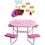 Barbie Estate Picnic Table Set with Themed Accessories