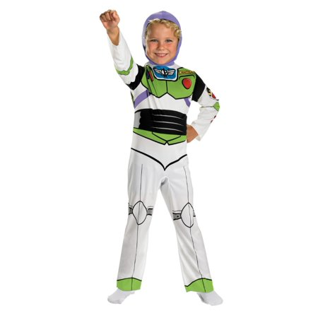 Disney Toy Story Boys Buzz Lightyear Costume Space Ranger Jumpsuit Small 4-6  - Size - Small (4-6) - Disney Buzz Costume