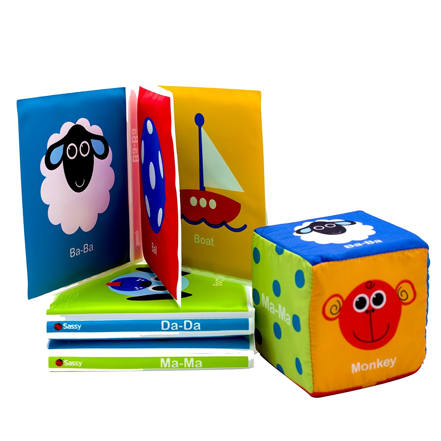 First Sounds Book Set and Cube..., By Sassy Ship from US by