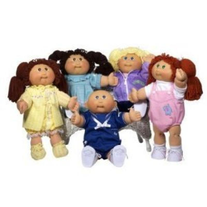 Cabbage Patch Kids 25th Anniversary Doll Caucasian Girl with Dark Brown Hair by
