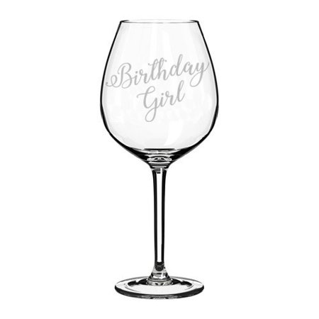 Wine Glass Goblet Birthday Girl (20 oz Jumbo) (Birthday Girl Wine Glass)