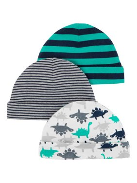 Newborn Baby Boy 3 Pack Cap