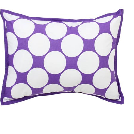 Bacati - MixNMatch Decorative Pillow 12 x 16 inches with removable 100% Cotton cover and polyfilled pillow insert, Purple