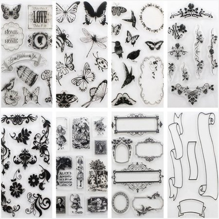 Hot Alphabet Transparent Silicone Clear Rubber Stamps Sheet Cling Scrapbooking DIY New Cline Scrapbooking Page Protector