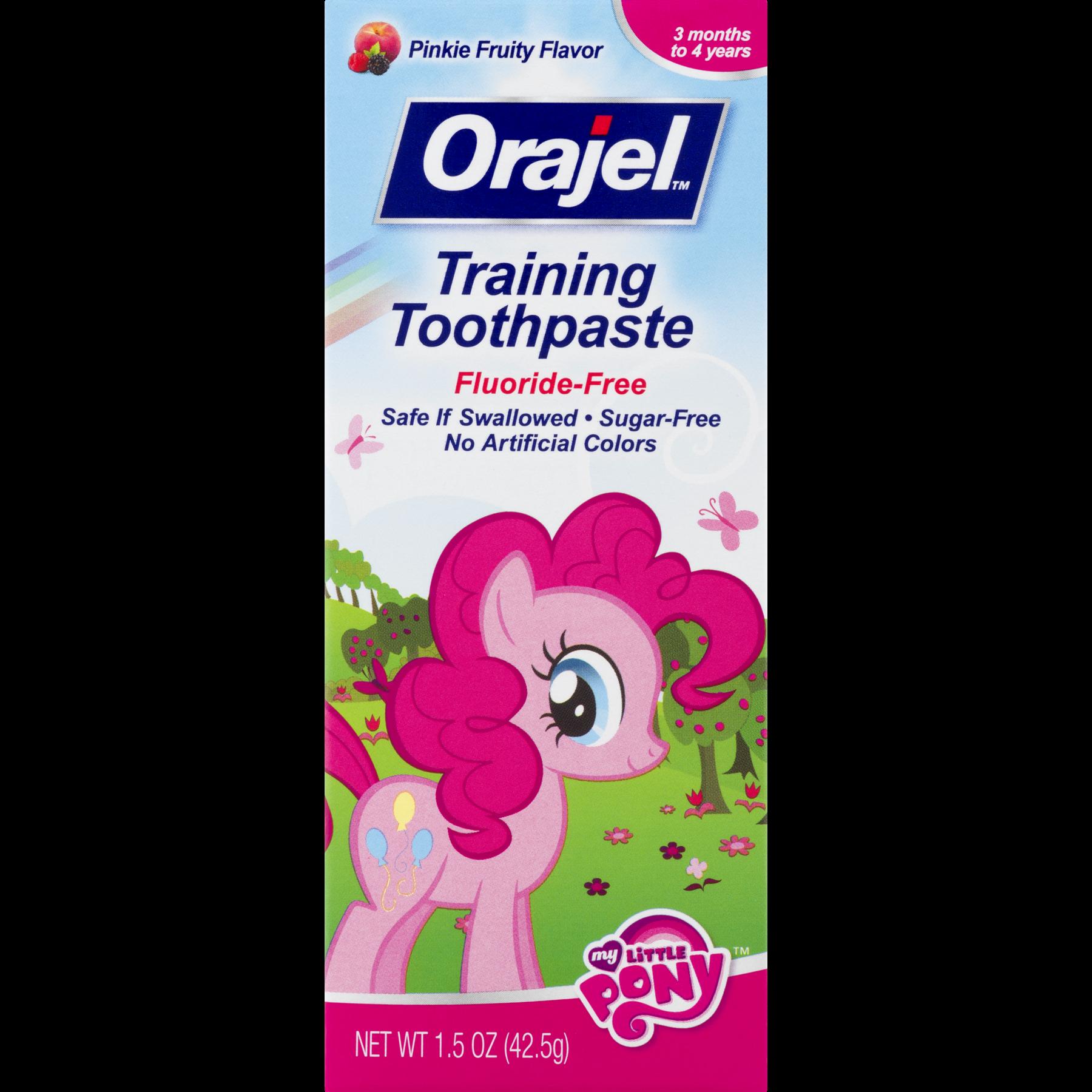 Orajel Training Toothpaste Fluoride-Free My Little Pony, 1.5 OZ