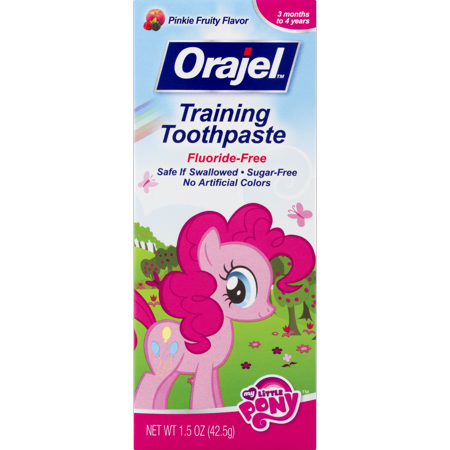 (2 pack) Orajel Training Toothpaste Fluoride-Free My Little Pony, 1.5 (Best Toothpaste For Toddlers)
