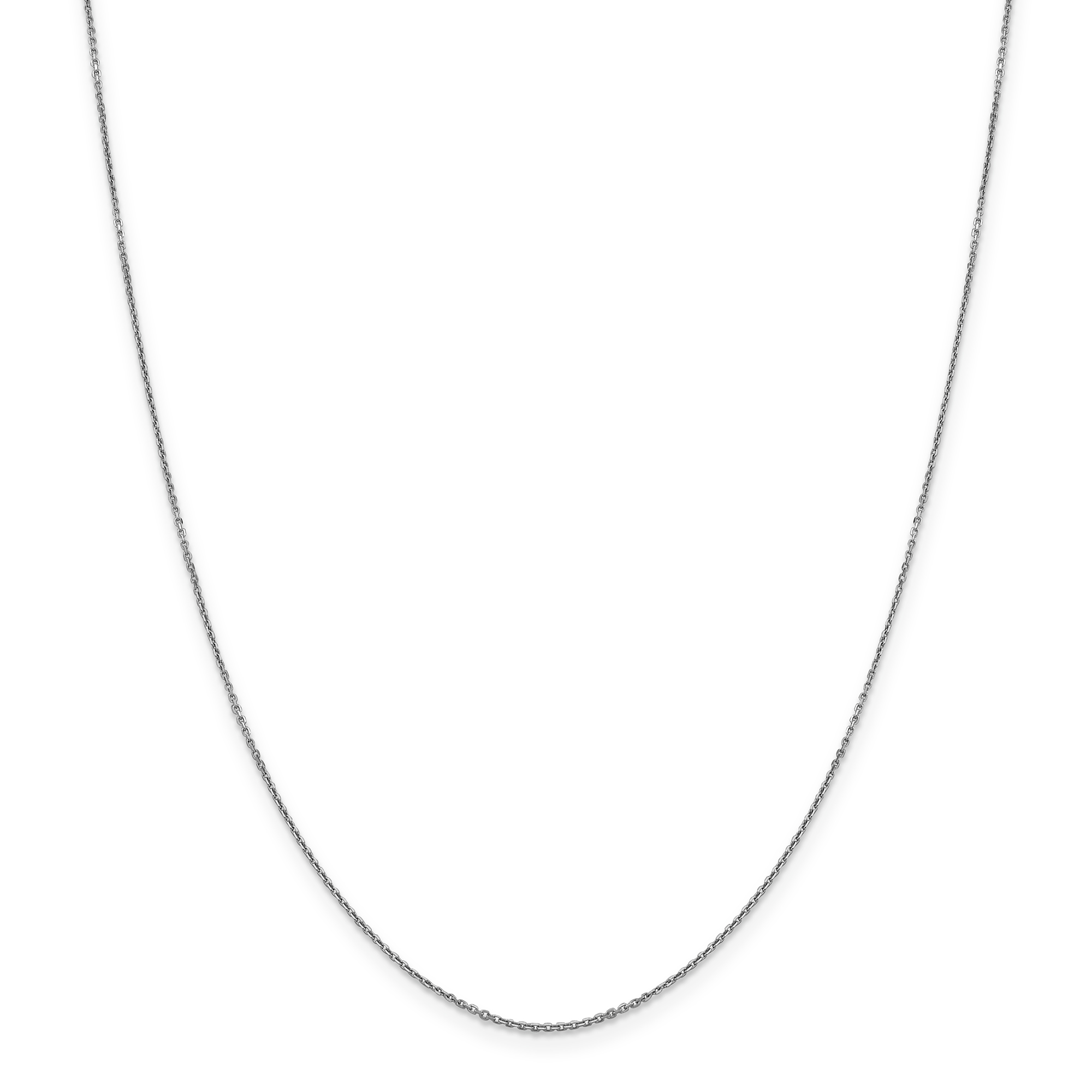 14k White Gold .90mm Link Cable Chain Necklace 20 Inch Pendant Charm Round Fine Jewelry Gifts For Women For Her - image 5 de 5