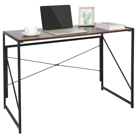 Zeny Writing Computer Desk Modern Simple Study Desk Industrial Style Folding Laptop Table for Home Office Notebook Desk
