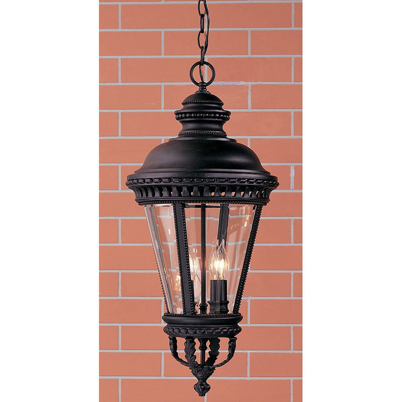 Feiss Castle Outdoor Hanging Lantern 27.25H in. Black by Murray Feiss