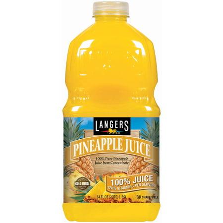 (8 Pack) Langers 100% Juice, Pineapple, 64 Fl Oz, 1 Count](Halloween Punch Pineapple Juice)