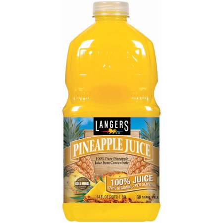 (8 Pack) Langers 100% Juice, Pineapple, 64 Fl Oz, 1 Count