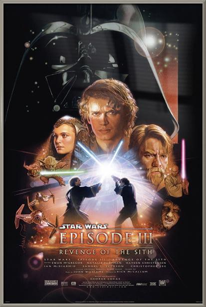 Star Wars Episode Iii Revenge Of The Sith Framed Movie Poster Print Regular Style Size 24 X 36 Walmart Com Walmart Com