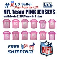 Pets First NFL Seattle Seahawks #12 Pink Jersey for DOGS & CATS, Licensed Football Jerseys - Extra Small