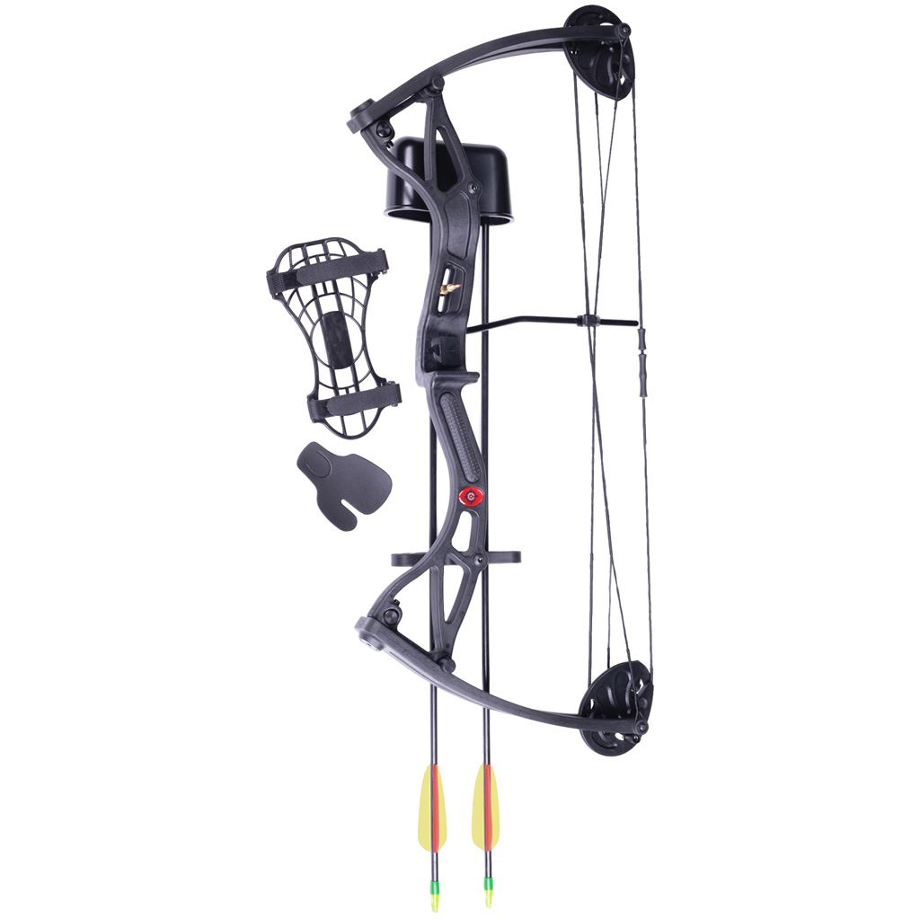 Crosman Wildhorn AYC2926 Compound Bow w/2 Arrows, Arm Guard, Quiver