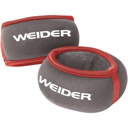 Weider Pair Wrist Weights Size 2 Lb