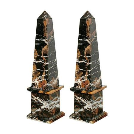 Design Toscano Grande Solid Marble Obelisk: Set of Two