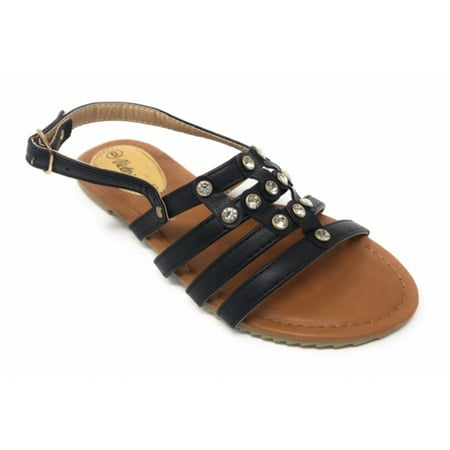Victoria K Women's Front Strapped With Rhinestone (Sandals With Rhinestones)