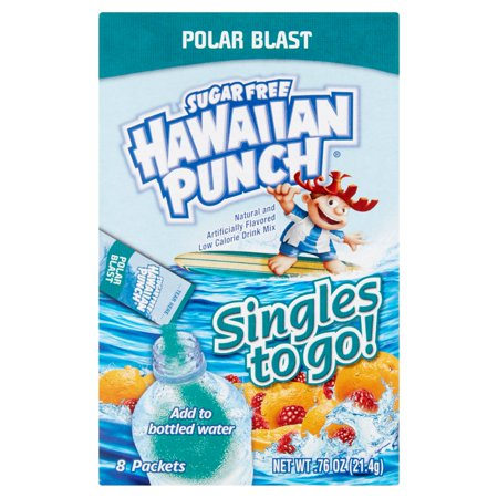 Hawaiian Punch Singles To-Go Drink Mix, Polar Blast, .76 Oz, 8 Packets, 1 Count