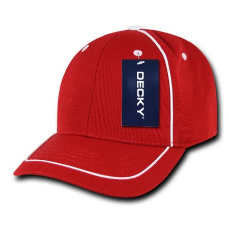 Gold Mesh Buckle - Decky 762 Performance Mesh Piped Caps-Red