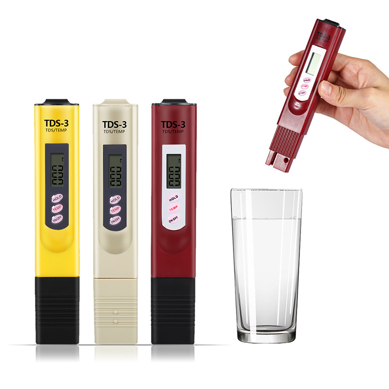 WALFRONT Digital LCD Water Quality Testing Pen Purity Filter TDS Meter Tester 0-9990 PPM,Water Quality Testing Pen, TDS Meter Tester