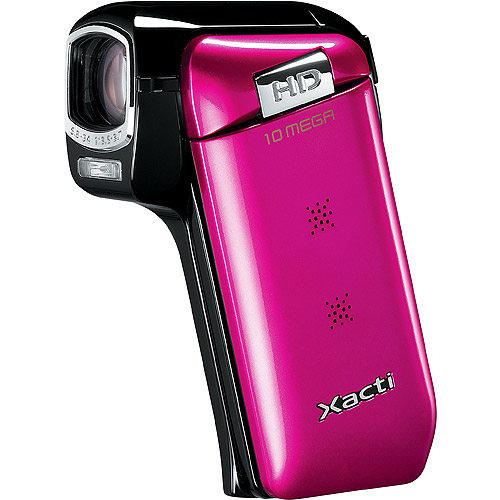 Sanyo Xacti VPC - CG10 Pink Camcorder 720P HD 10MP with 5x Optical Zoom, 3 LCD, Face Detection