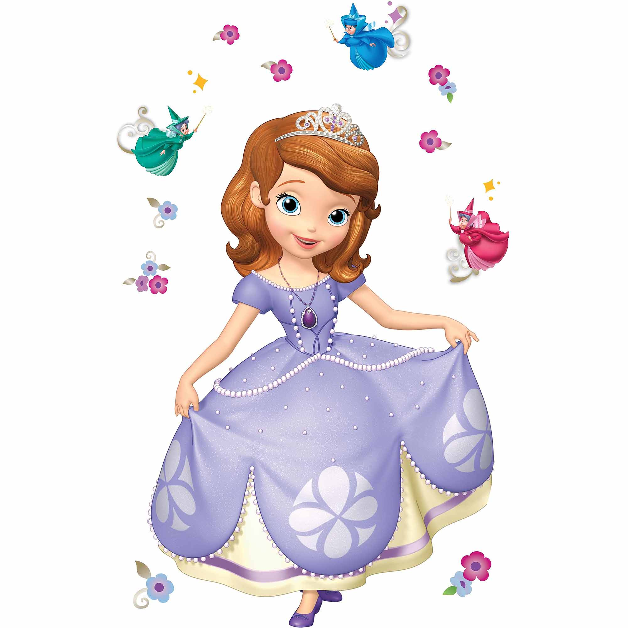 Sofia The First Bedroom Decor Sofia The First Peel And Stick Giant Wall Decals Walmartcom