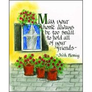 LPG Greetings Life Lines May Your Home by Lori Voskuil-Dutter Graphic Art Plaque