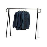 60 x 60 inch Black & Chrome Single-Rail Garment Rack