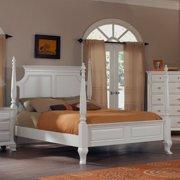 Laveno 012 White Wood Poster King Bed