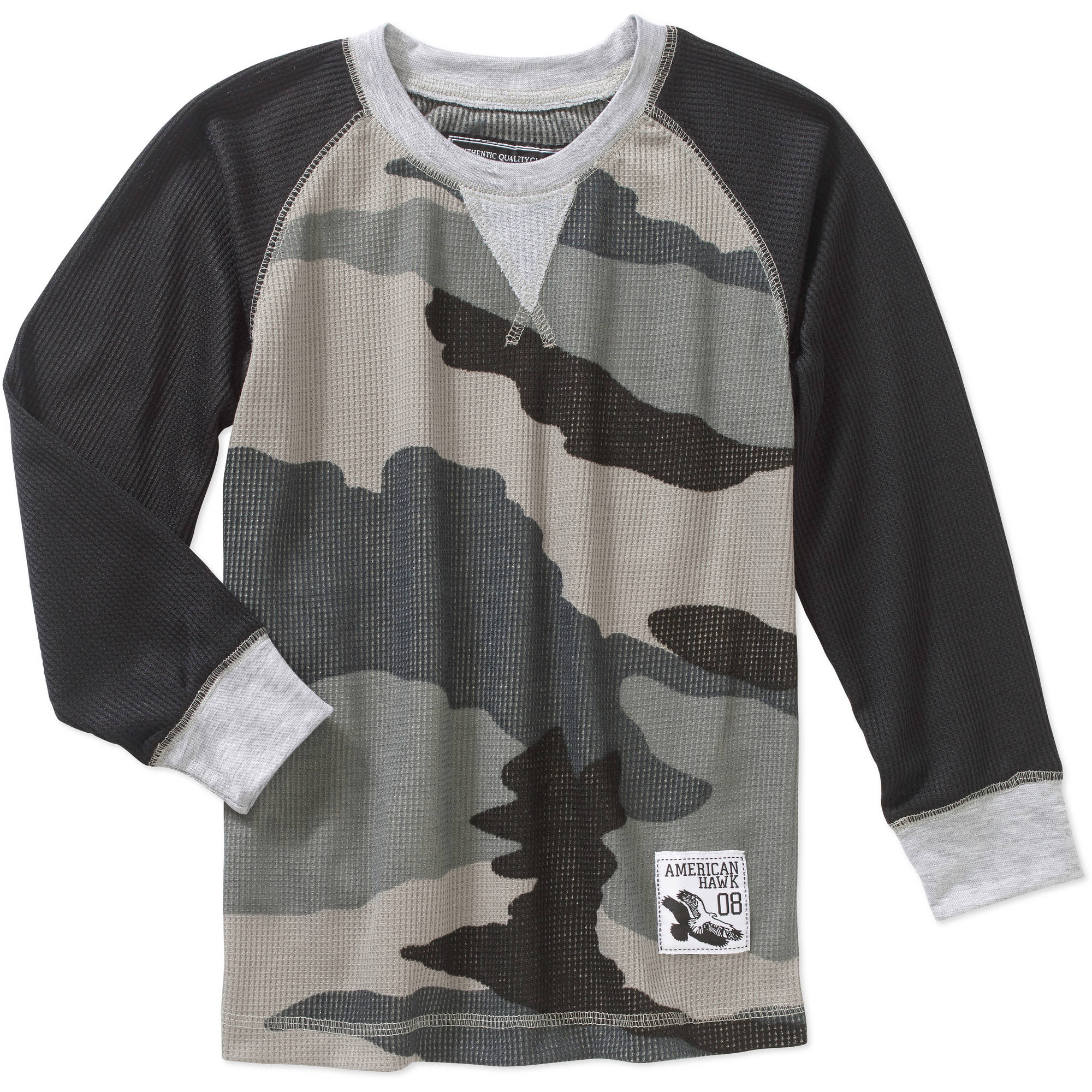 American Hawk Boys' Long Sleeve Camo Shirt