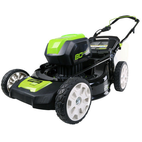 Greenworks 2502202 80V Cordless Lithium-Ion 21 in. 3-in-1 Lawn Mower (Bare Tool) by GREENWORKS