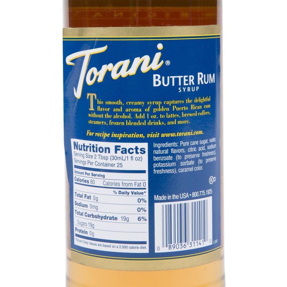 Torani Butter Rum Syrup - Walmart.com