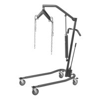 """Drive Medical Hydraulic Patient Lift with Six Point Cradle, 5"""" Casters, Silver Vein"""