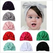 Newborn Toddler Kids Baby Boy Girl Turban Cotton Beanie Hat Winter Cap