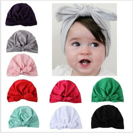 bdbfc5333 Newborn Toddler Kids Baby Boy Girl Turban Cotton Beanie Hat Winter Cap