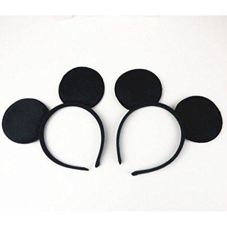 Mouse Ears Headband Children Birthday Party Supplies Boys Mom Baby Hair Accessories Party Decoration Baby Shower Valentine's Day Halloween Christmas Set of 2