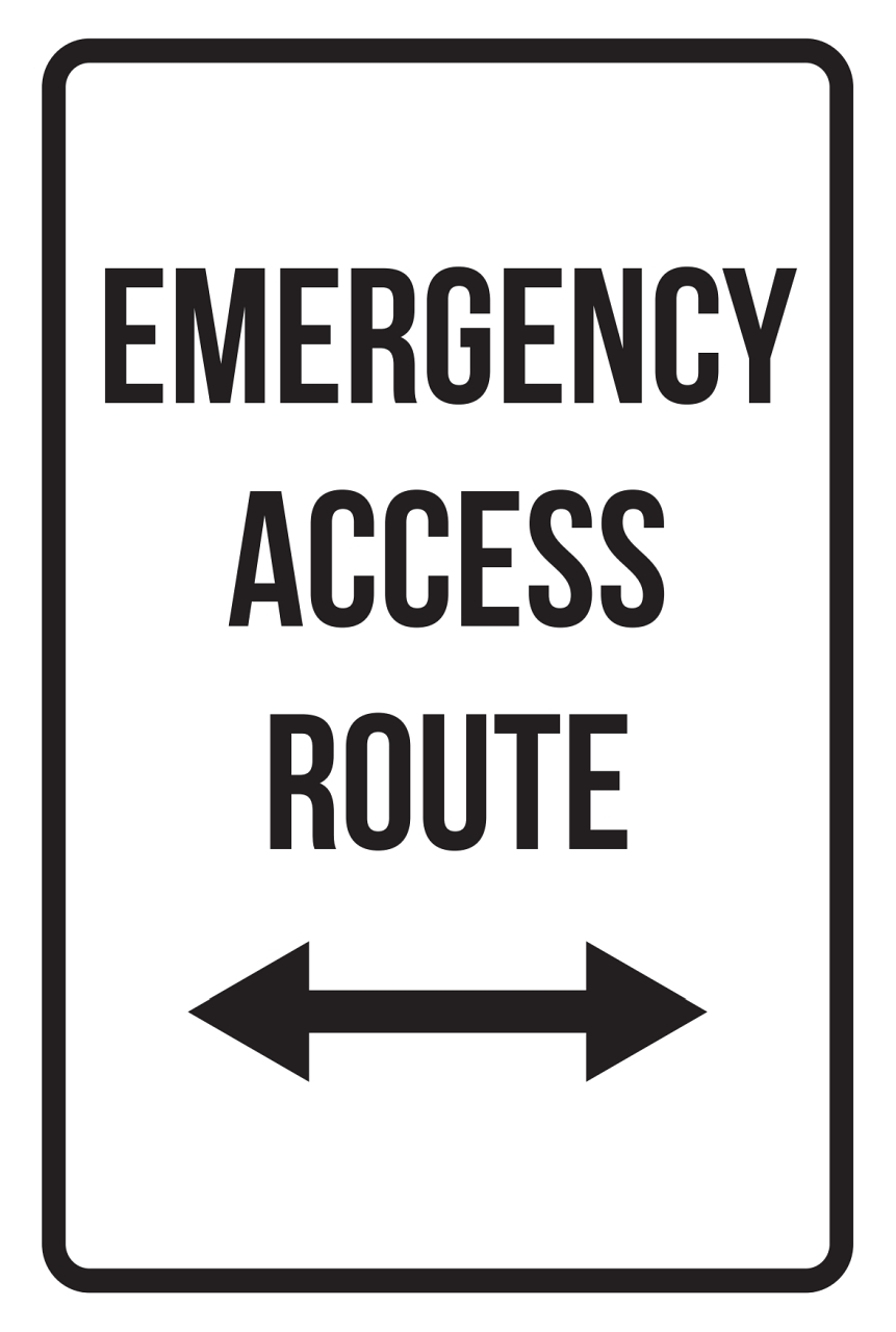 Exit Print Left Arrow Picture Large Road Street Business Work Office Customer Sign Aluminum Metal 4 Pack 12x18
