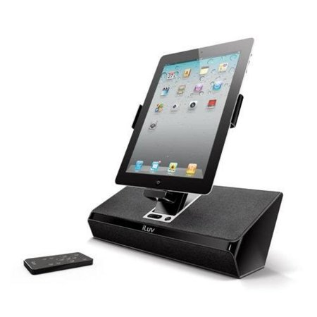 iluv imm727blk artstation stereo speaker dock with remote for the apple ipad 3 3g ipad 2 wifi. Black Bedroom Furniture Sets. Home Design Ideas