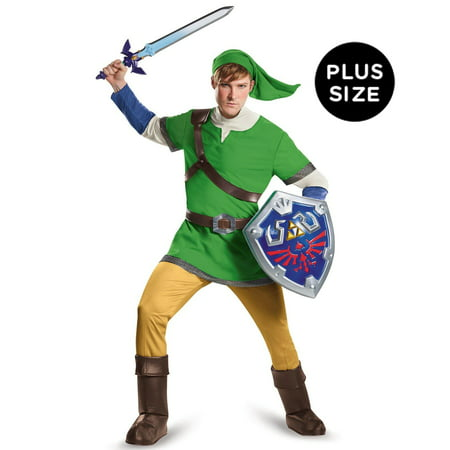 Adult The Legend of Zelda Link Deluxe Costume](Link Halloween Costume Zelda)