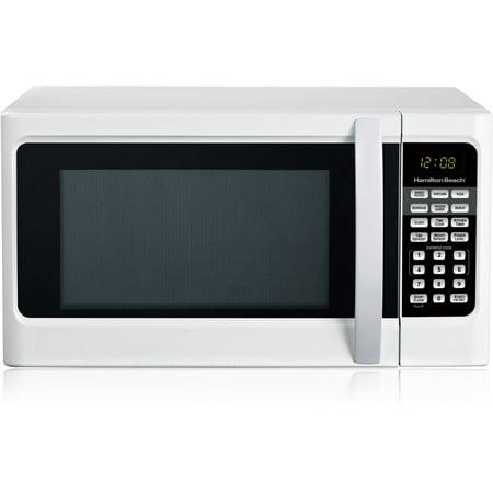 Microwave Oven Hamilton Beach Countertop Kitchen Cooking Digital White 1.1 Cu Ft