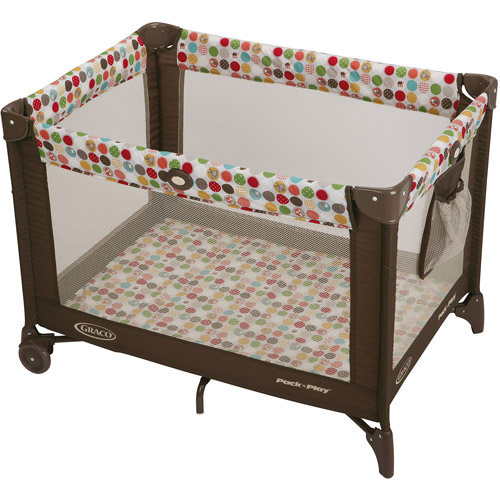 Graco Pack 'N Play with Automatic Folding Feet Playard, Animal Friends