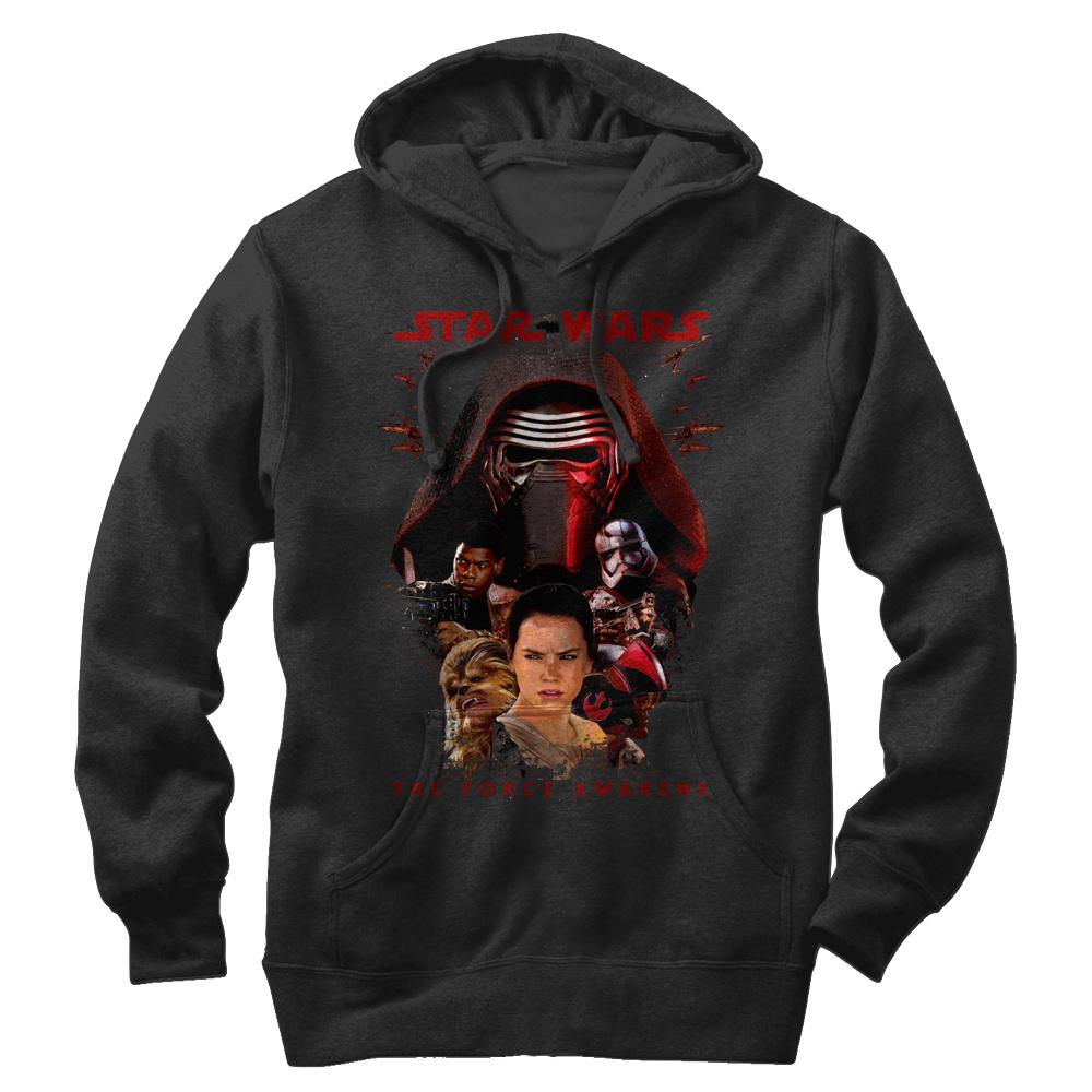 Star Wars The Force Awakens Men's Episode VII Kylo Ren and Rey Hoodie