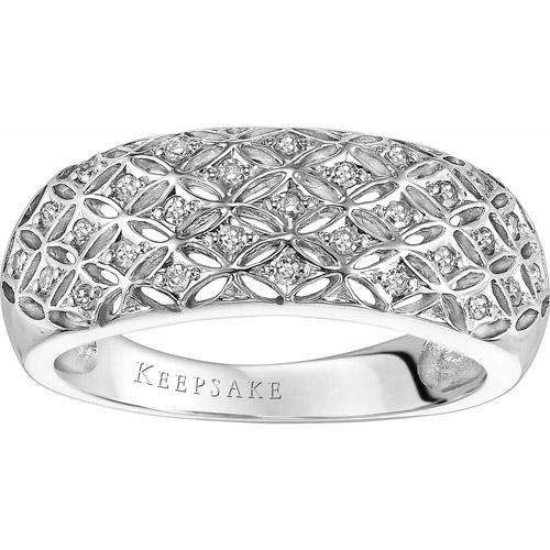 Keepsake Lace 1/6 Carat T.W. Diamond Band in 10kt White Gold