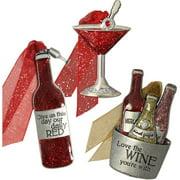 Gloria Duchin Cocktail Christmas Ornament 3-Piece Set
