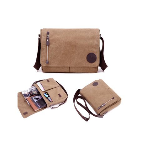 1e17ec52c91a Men Vintage Canvas Shoulder Messenger Bag Laptop Bags Travel Business Bag  Diagonal Work Bag Shoulder Bags