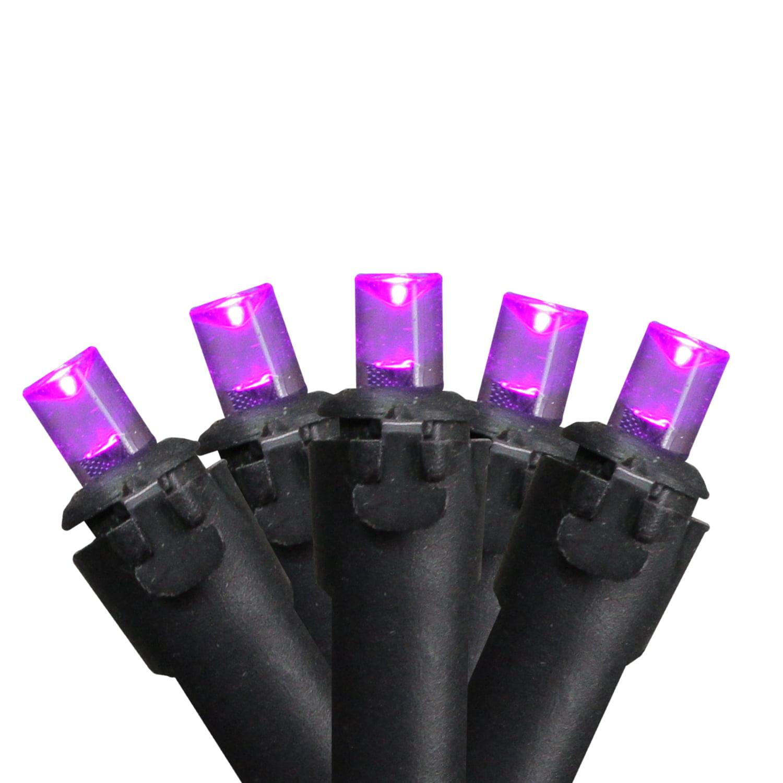 Set of 50 Micro Mini Purple Halloween LED Light Set