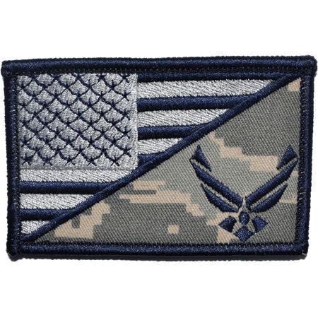 Back Usa Flag - U.S. Air Force Emblem USA Flag - 2.25x3.5 Patch