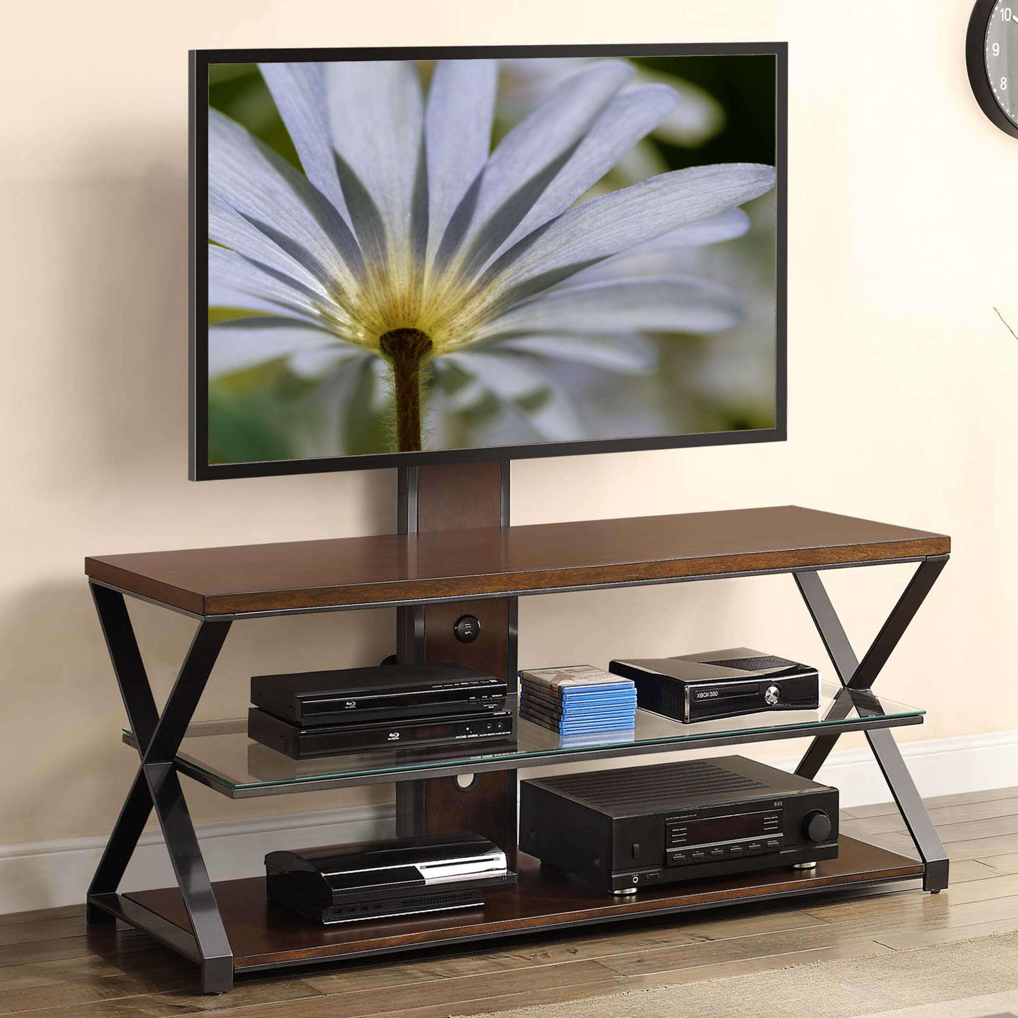 Jaxon 3 In 1 Cognac Tv Stand For Tvs Up To 70 Walmart Com