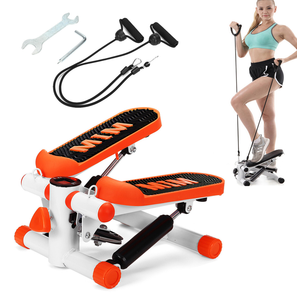 Details about  /Exercise Pedal Mini Cycle Fitness Stepper Trainer Bike LCD Display Home Gym US