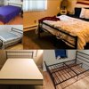 HOMYCASA Full Size Bed Frame With Two Headboards Platform bed, Black